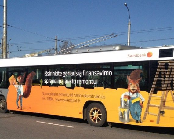 Advertising on trolleybuses and buses