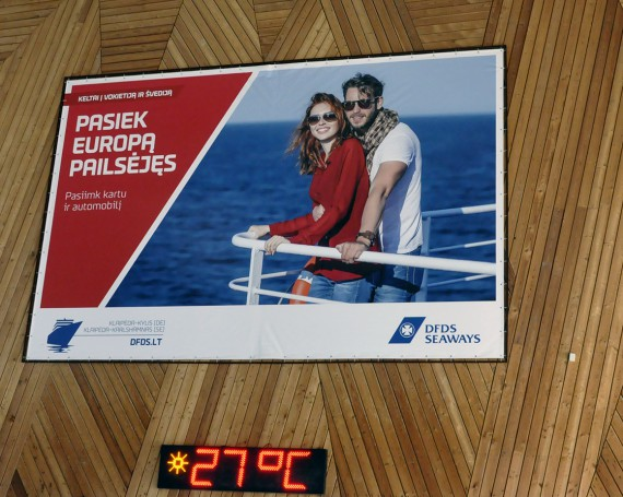 DFDS campaign swimming pool