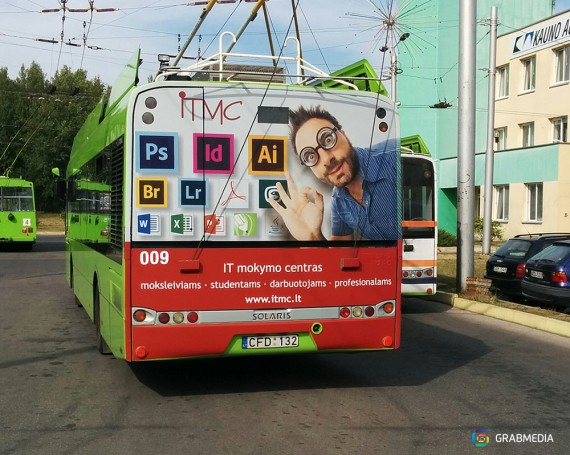 IT learning school campaign on bus back