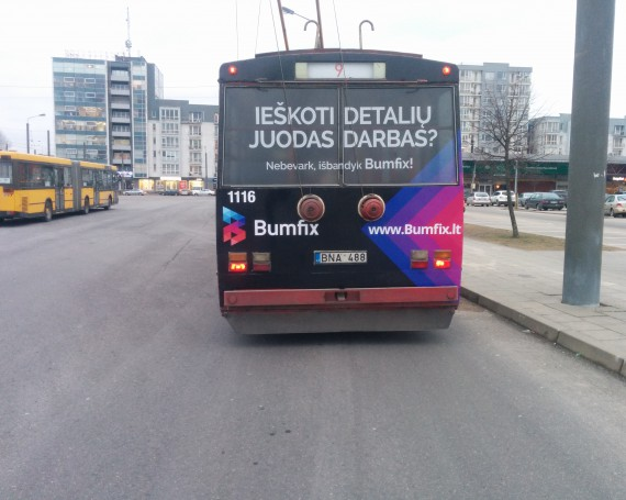 Bumfix campaign on trolleybuses