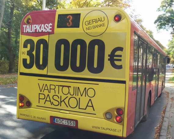 Taupkase advertising campaign on public transport