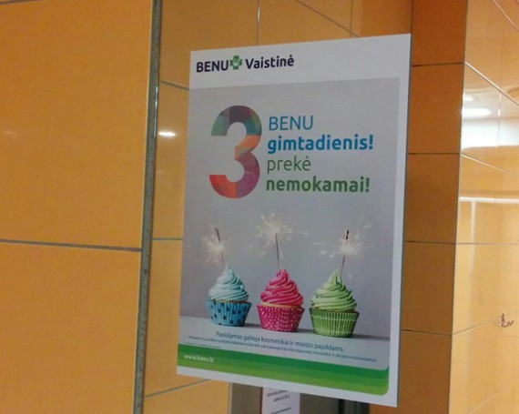 BENU pharmacy birthday campaign at Impuls clubs