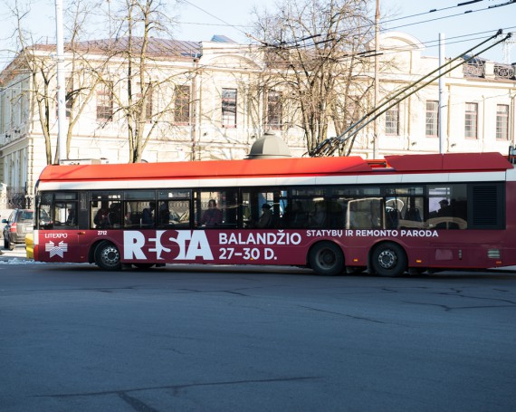 RESTA advertising on public transport