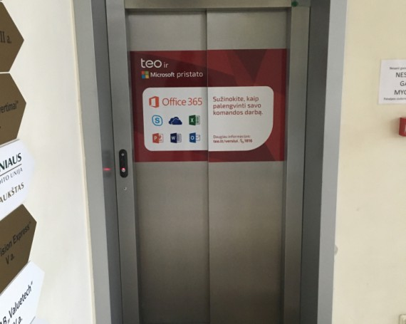 TEO campaign on business centers elevators