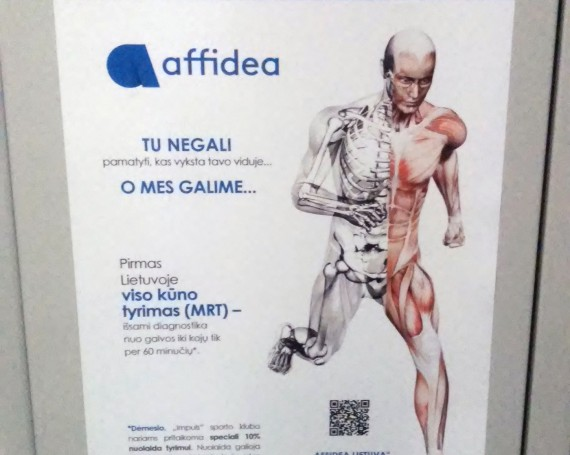 Affidea advertising campaign in Impuls gyms