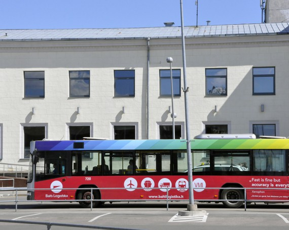 Baltic logistika advertising campaign on buses