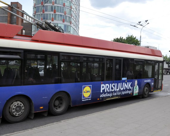 LIDL advertising campaign on public transport