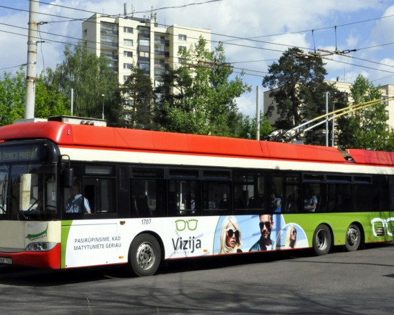 Optika Vizija advertising campaign on public transport