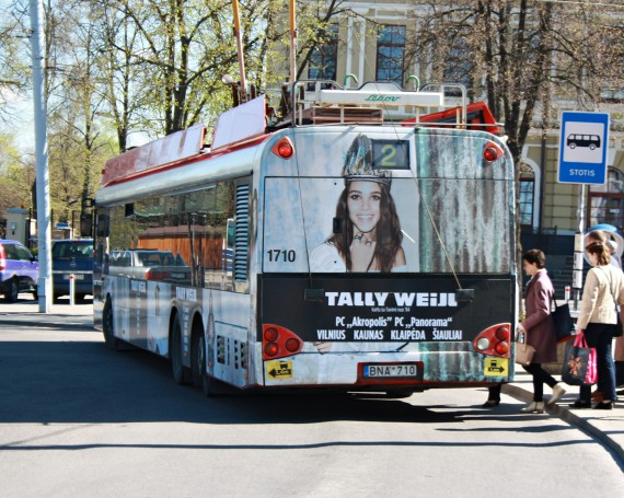 Tally weijl advertising campaign on trolleybus