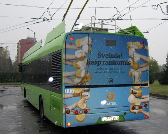 Statoil advertising on public transport