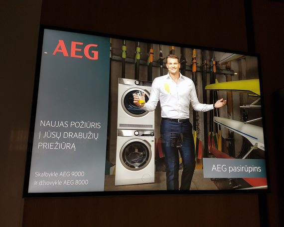 AEG advertising in LED frame at Impuls
