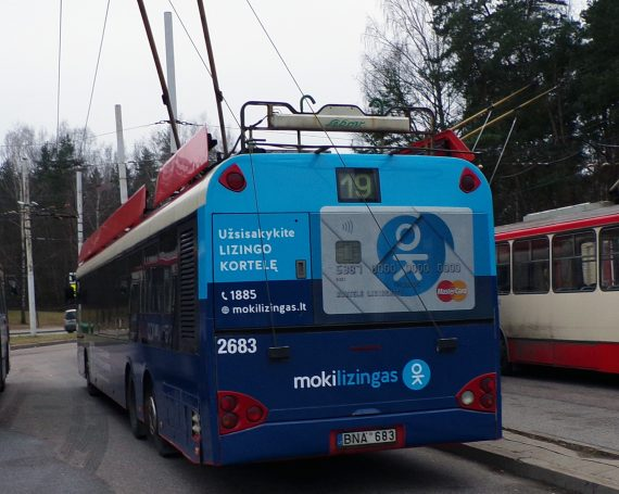 Mokilizingas ad on public transporto in Lithuania