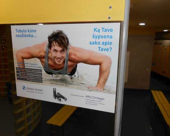 Sk Impeks advertising on mirrors in gym clubs