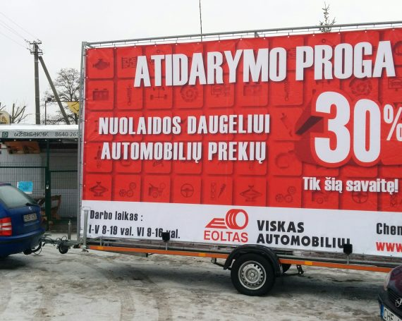 Eoltas advertising on advertising trailer