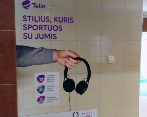 Telia advertising at Impuls gyms in Lithuania