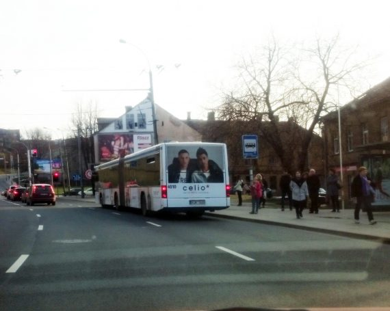 Celio advertising on buses