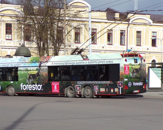 Foresto collars ad on public transport