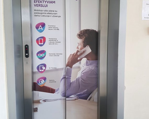 Telia client's ad in business centers