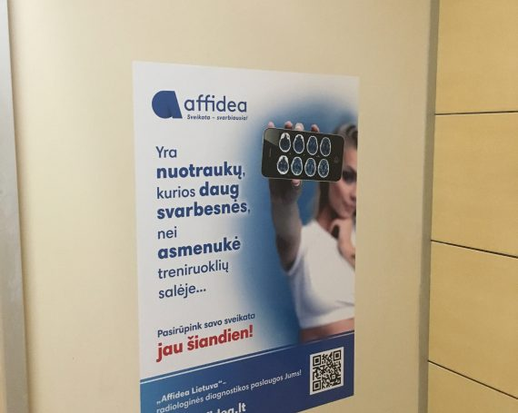 Affidea clients advertising in gym clubs.