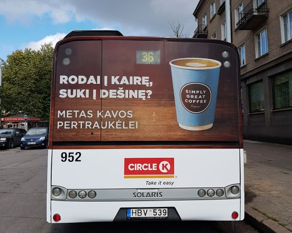 Circle K – coffee advertising on public transport