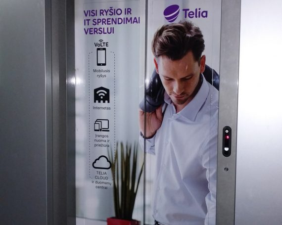 Telia advertising in business centers