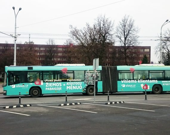 Vivus.lt advertising on public transport in Lithuania
