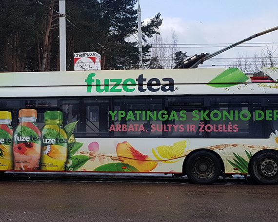 Fuzetea drink's advertising on public transport