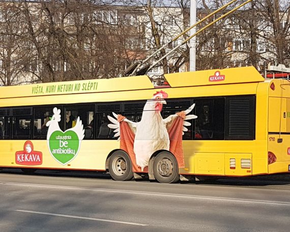 Kekava chicken advertising in Vilnius