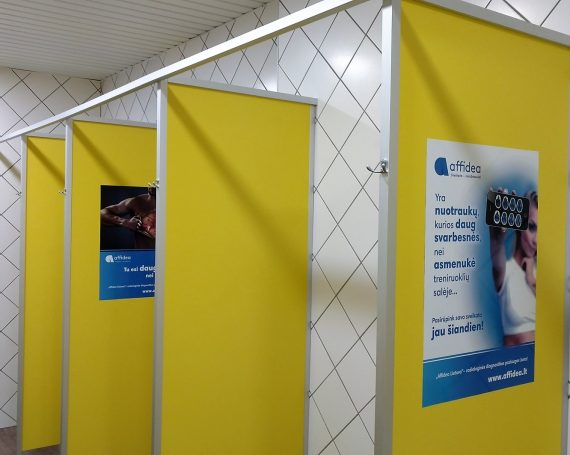 Affidea advertising in gym clubs