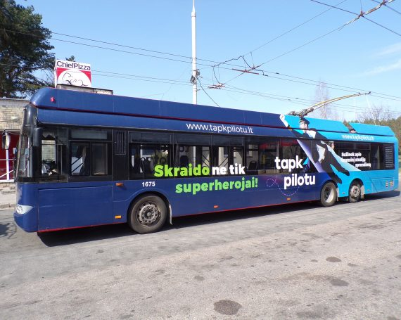 """Tapk pilotu"" advertising on public transport"
