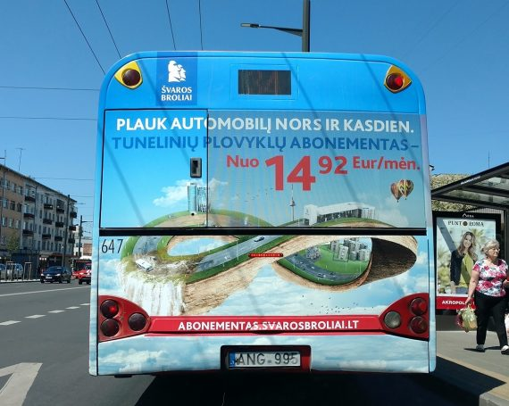 Švaros broliai clients advertising on buses