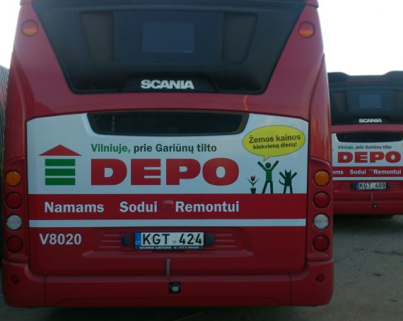 DEPO clients advertising on back's of buses