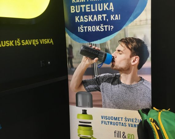 BRITA client's advertising in gym clubs