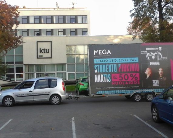 MEGA client's advertising on trailer