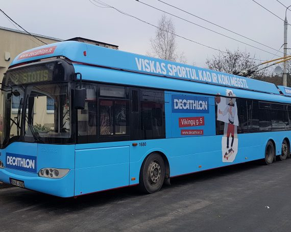 Decathlon advertising on public transport