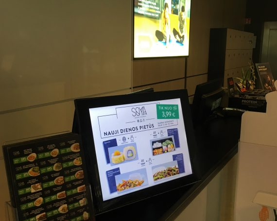 Soya advertising in LCD screens in gyms