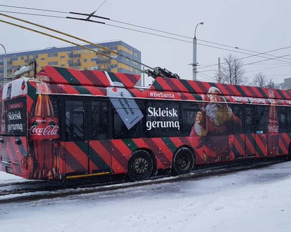 Coca Cola advertising on public transport
