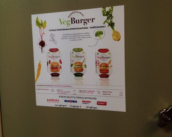 VegBurger advertising in gym clubs