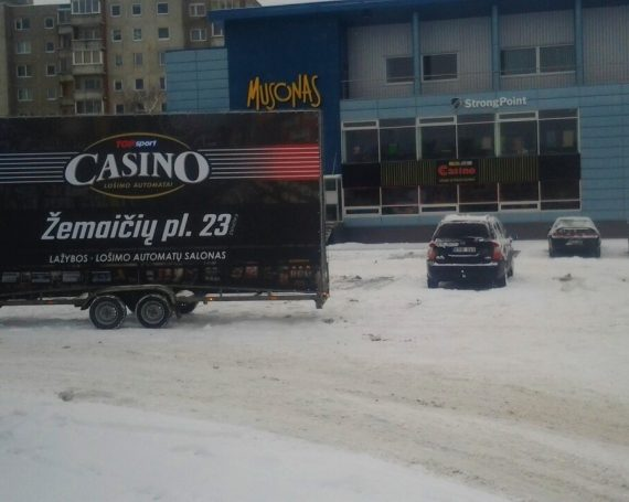 Top Sport advertising trailer in Kaunas