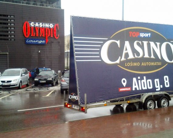 Top Sport advertising trailer in Siauliai