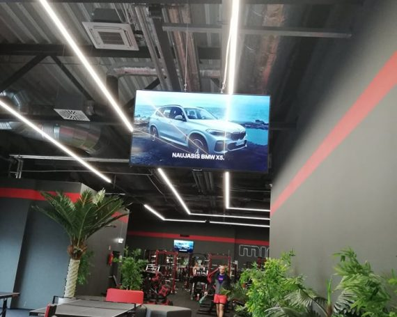BMW car's advertising in gym clubs