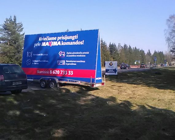 Maxima ad on advertising trailer