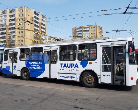 Credit union Taupa advertising on public transport