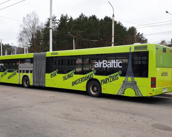 airBaltic advertising on public transport