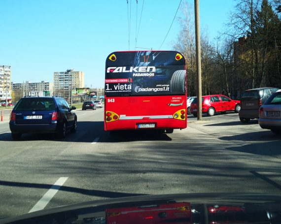 padangos1.lt advertising on buses and trolleybuses