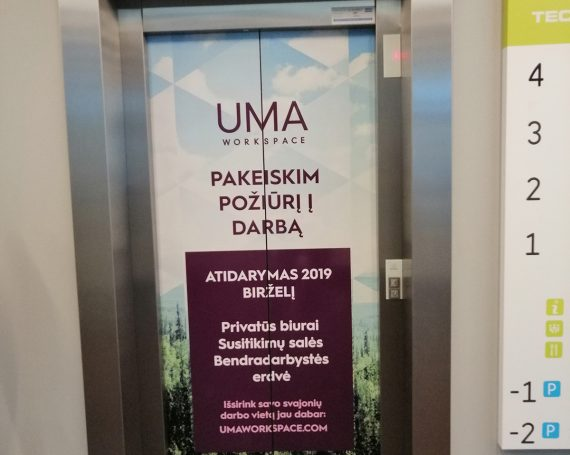 UMA WORKSPACE ad in business centers