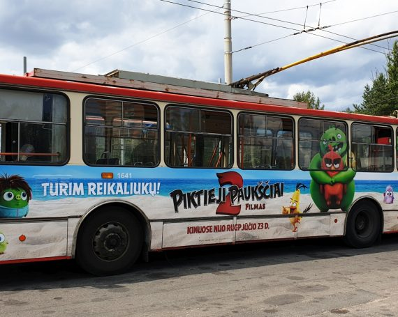 Angry birds 2 movie's advertising on public transport