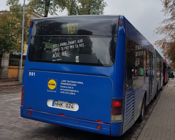 LIDL advertising on public transport