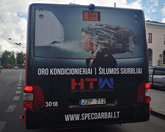 air conditioner and Heat pumps ad on buses