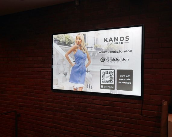 Kands London clients ad in gym clubs